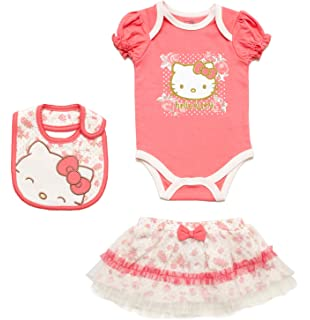 beeb6dca5 Amazon.com: Hello Kitty Baby Girls' 3 Piece Gift Box with Tutu ...