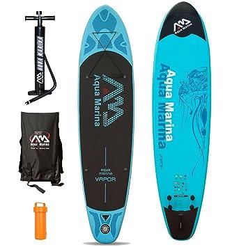 AQUA MARINA Vapor - Juego para practicar paddle surf (incluye tabla inflable, remo)