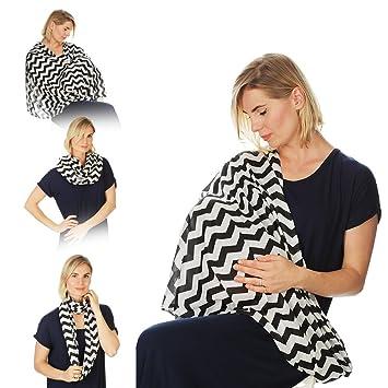 091a8ff8213f Kiddo soins infirmière couverture infirmière infinie écharpe pour  l allaitement maternel (Chevron blanc noir