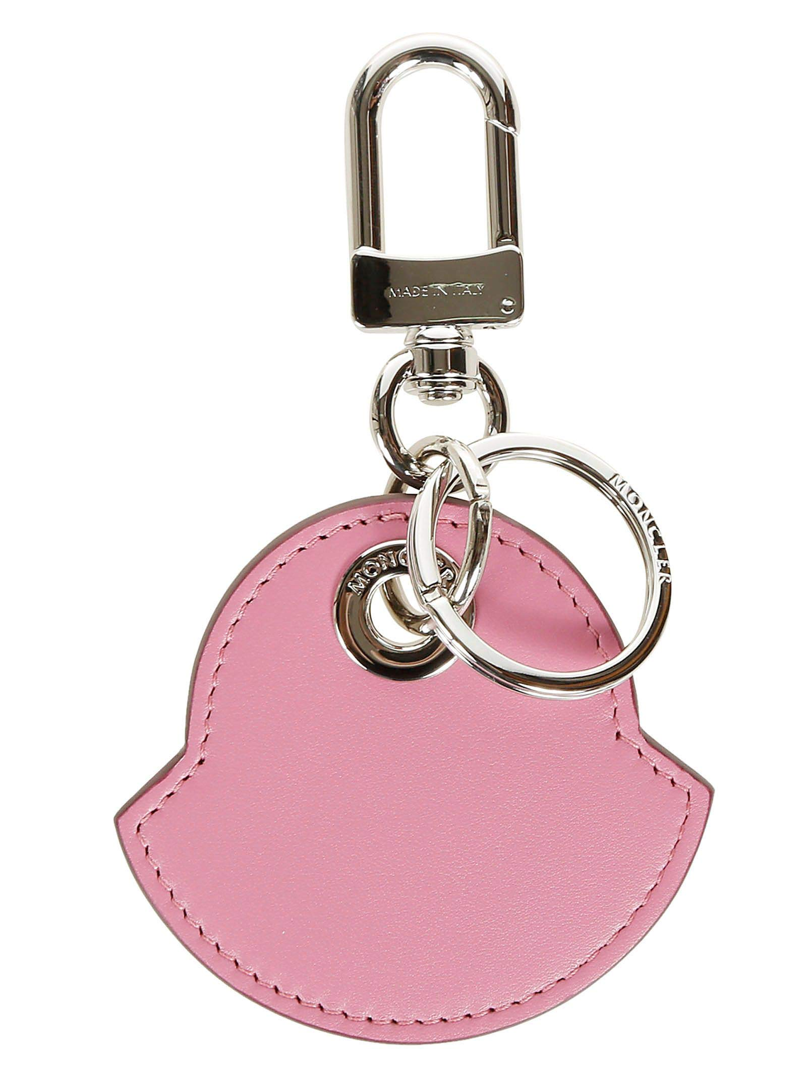 Moncler Genius Men's 008850750458 Pink Leather Key Chain