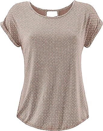 Yidarton Camiseta de Mujer Manga Corta Bluas de Mujer Camisa ...