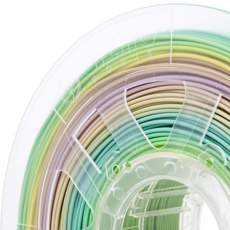 2.85mm Gizmo Dorks PLA 3D Printer Filament 1kg 3mm Gradient Rainbow Color