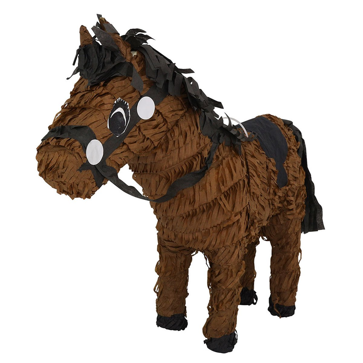 LYTIO – Pinata Dark Brown Horse Full Body with Black Details – Piñata - Design for Desert/West and/or Animal Theme Parties, Décor, Photo Prop, Center Piece.