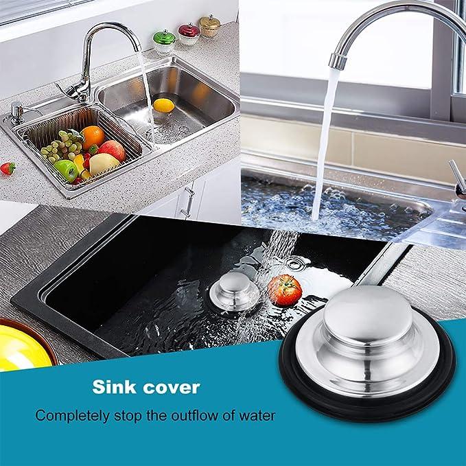 uxcell 2 Pcs Kitchen Sink Garbage Strainer 2.95 Inches Stainless Steel Sink Disposal Stopper Anti-Clogging Drain Sieve for Kitchen Sink Drain