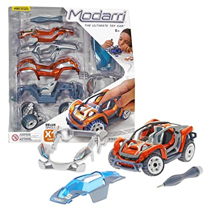 Make Your Own Car >> Modarri Delux X1 Dirt Car Build Your Car Kit Toy Set Ultimate Toy Car Make Your Own Car Toy For Thousands Of Designs Real Steering And
