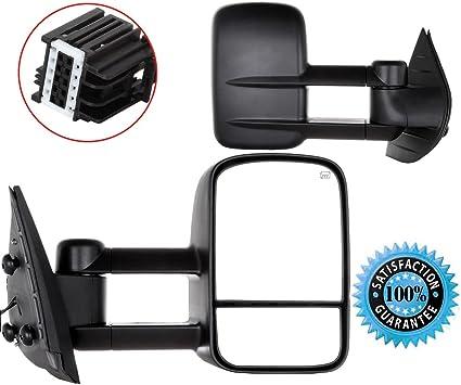 Fit 07-14 Gm Silverado//Sierra Gmt900 Power+Heated Rear View Towing Mirror Pair