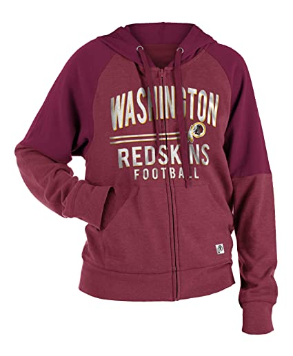 New Era Washington Redskins Women s Tri-Blend Fleece Zip Up Hooded  Sweatshirt X-Small d630fd604