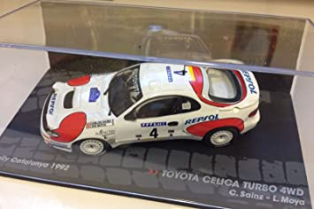 Générique Toyota CELICA Turbo 4WD - Rally Catalunya 1992 - SAINZ - IXO 1/43: Amazon.es: Juguetes y juegos