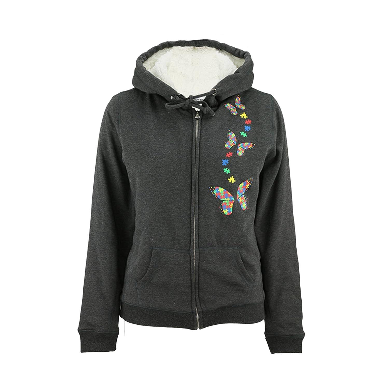 Autism Awareness Sherpa Lined Hooded Sweatshirt