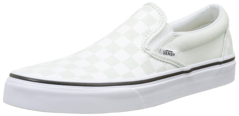 Vans Classic Slip-On, Zapatillas sin Cordones para Mujer 45 EU Verde (Checkerboard)