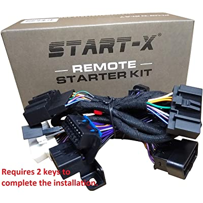 Start-X Remote Starter Kit for Ford F-150 11-14 || F-250 11-16 || F-350 11-16 || F-450 11-16 || F-550 11-16 || Focus 12-15 || Edge 11-14 || Expedition 15–17 || Explorer: Automotive