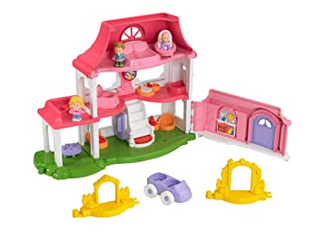 Amazon Com Fisher Price Little People Happy Sounds Home Toys Games