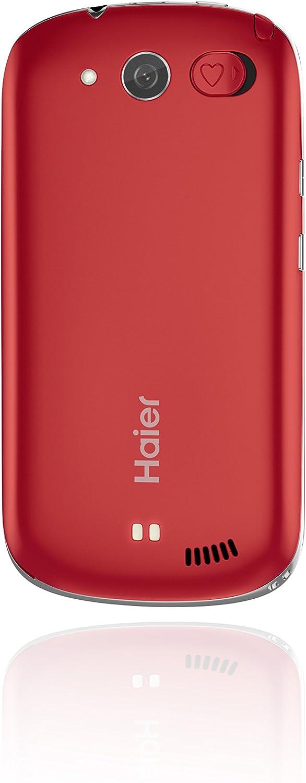 Haier A6 Easy - Smartphone liberado 3G (Pantalla: 4 Pulgadas, 4 GB, SIM Simple, Android 4.2.1 Jelly Bean), Color Rojo (Importado): Amazon.es: Electrónica