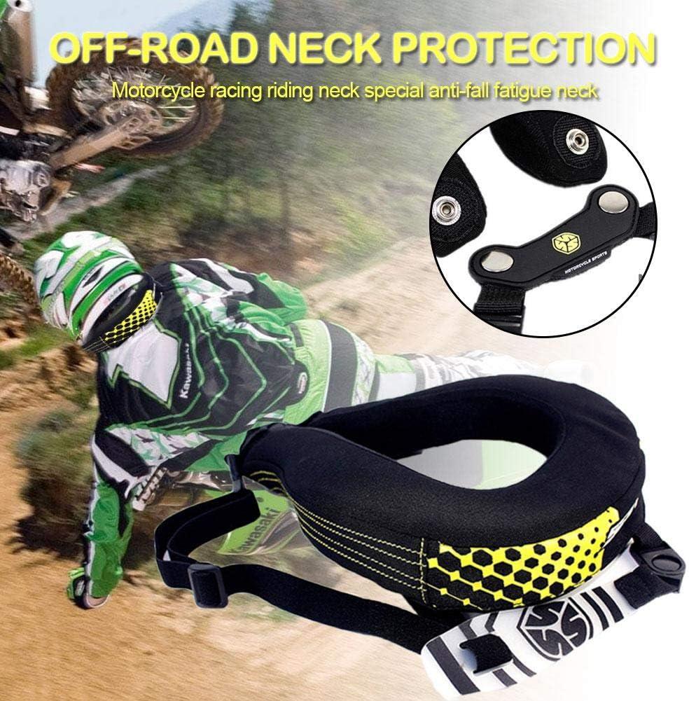 fineshelf Motocross Neck Brace,Off-Road Neck Guard,Neck Protector,Car Motorcycle Racing Riding Neck Guard Anti-Fall Fatigue Neck Guard-Black
