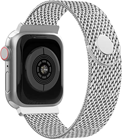 Imagen deAdepoy Correa para Apple Watch 38mm 40mm 42mm 44mm, Pulseras de Metal de Acero Inoxidable Compatible con iWatch Series 5/4/3/2/1