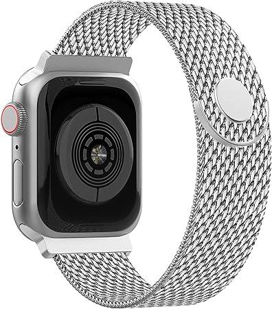 Image of Adepoy Correa para Apple Watch 38mm 40mm 42mm 44mm, Pulseras de Metal de Acero Inoxidable Compatible con iWatch Series 5/4/3/2/1