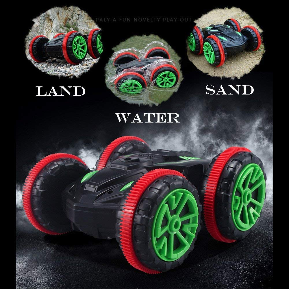 Blexy RC Crawler RC Stunt Car Remote Control Car with Two Batteries 1//24 Scale 4WD 2.4GHz Racing Vehicle 360/° Spins /& Flips Land Water Multifunction Amphibious Tank Gifts
