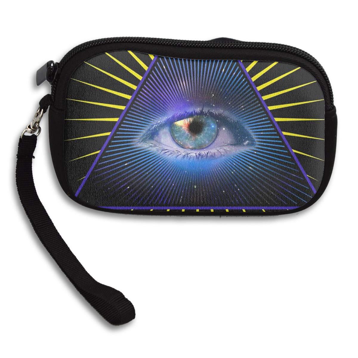 JinSPef All Seeing Eye - Monedero de mano con símbolo de ...