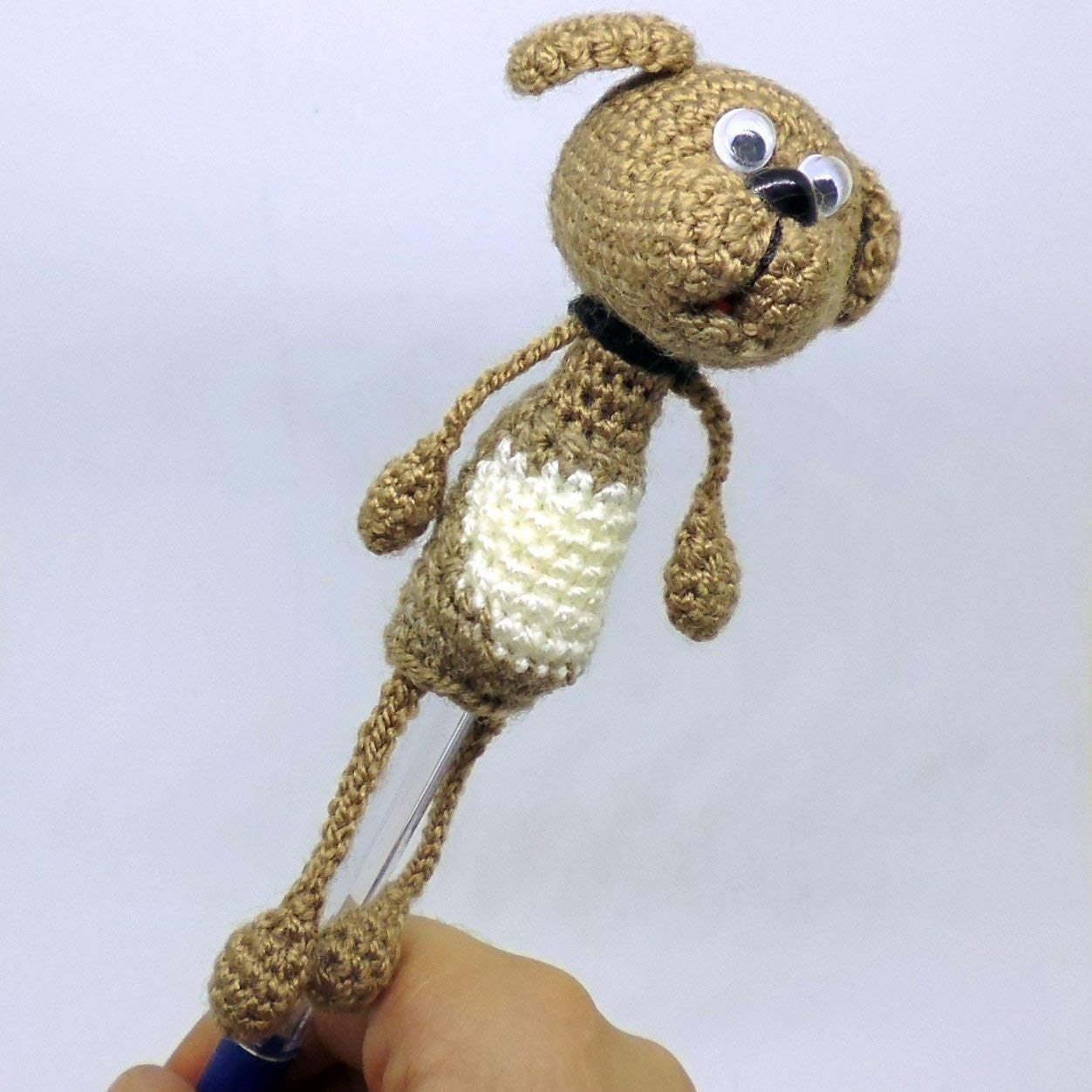dog Pen Topper Amigurumi pencil topper Crocheted animal pencil cozy Animal Pen Topper crocheted pencil head the cap on the pencil