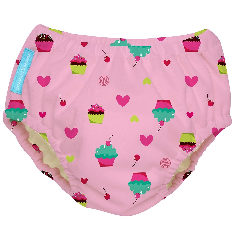 Charlie Banana Extraordinary Swim Diaper, Baby Pink, Large