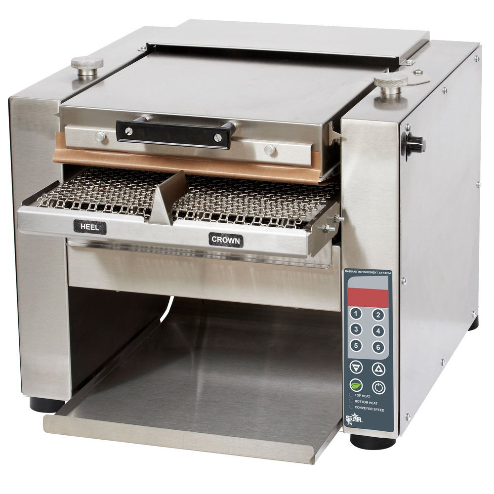 Star HCTE13S Ultra-Max Countertop Horizontal Contact Conveyor Toaster (1400 slices per hour) with Silicone Belt & Programmable Controls