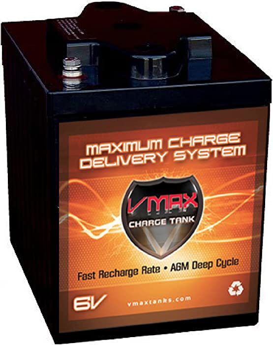 VMAXTANKS 6 Volt 225Ah AGM Battery: High Capacity & Maintenance Free Deep Cycle Battery for Golf Carts, Solar Energy, Wind Energy
