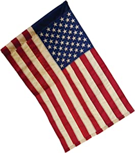 Tea Stained Patriotic American Flag (Garden Size)