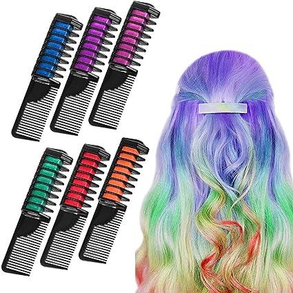 6 colores de tiza para el cabello de color de tiza para el ...