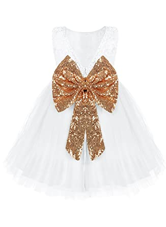 2017 Fashion Kids Baby Floral Bowknot Tutu Girl Party Birthday Gift Dress Tops