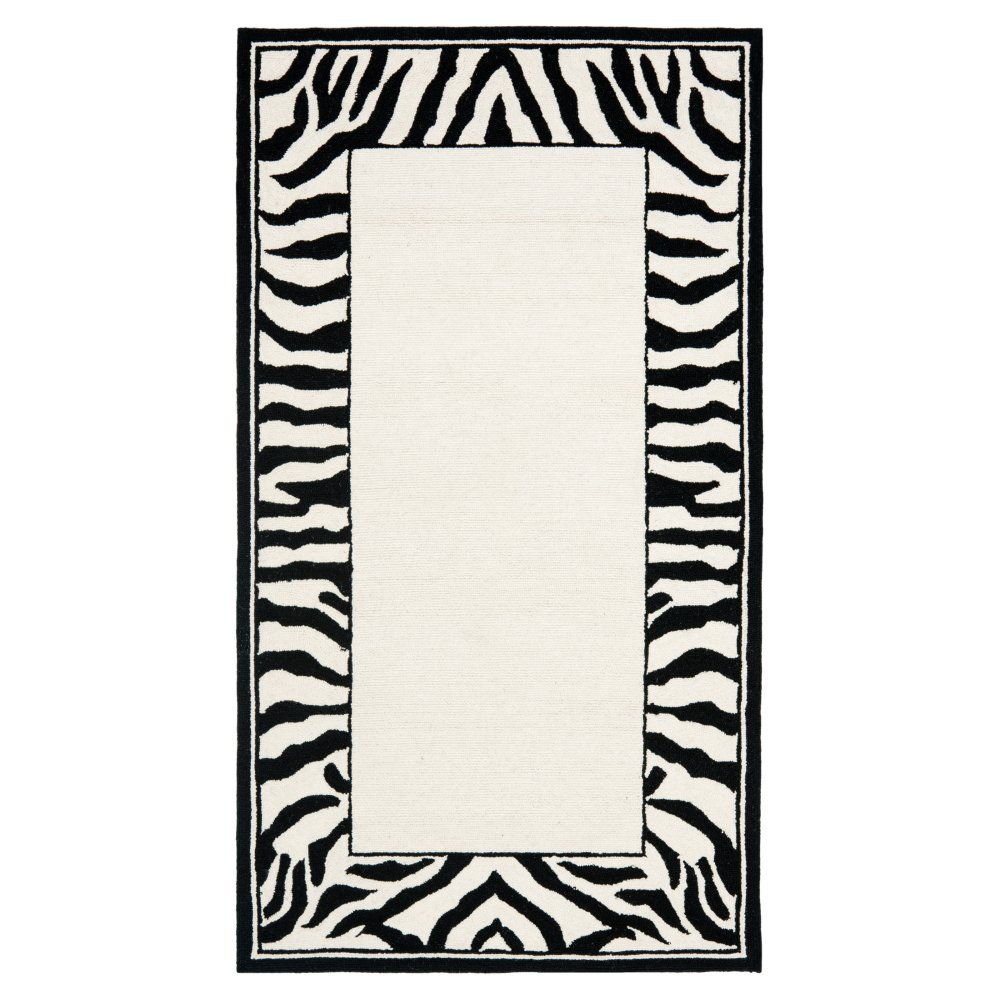 Country/Floral Rug - Chelsea -White/Black White/Black/Country/Floral/2'9'' X 4'9''/Small Rectangle