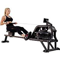 Sunny Health & Fitness Máquina de Remo de Agua Remadora c/Monitor LCD - Obsidian Surge SF-RW5713 de