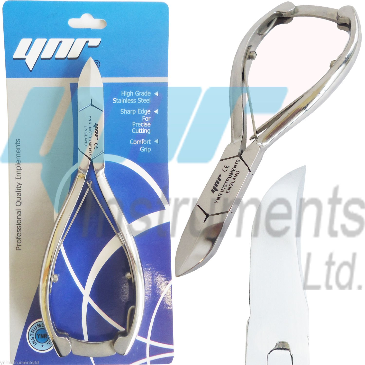 Professional Toe Nail Cutters Clippers Nippers Chiropody Podiatry Heavy Duty - For Very Thick Nails FUNGUS NAILS YNR Instruments Ltd