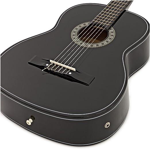 Guitarra Clasica Electroacustica de Gear4music Black con ...