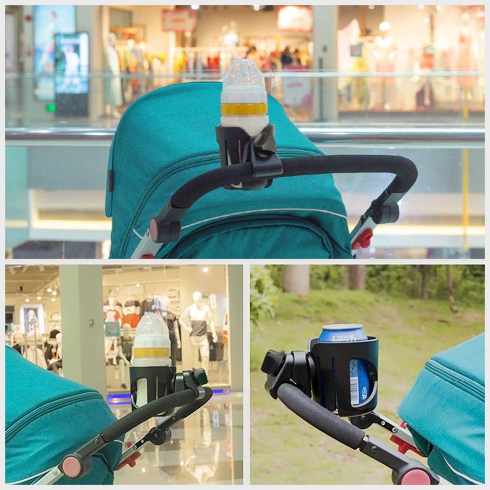 Cup Drink Bottle Holder,AUKUK Bottle Holder Drink Holder Bottle Holder for Child seat Baby Chair car Angle Adjustable (Gray)