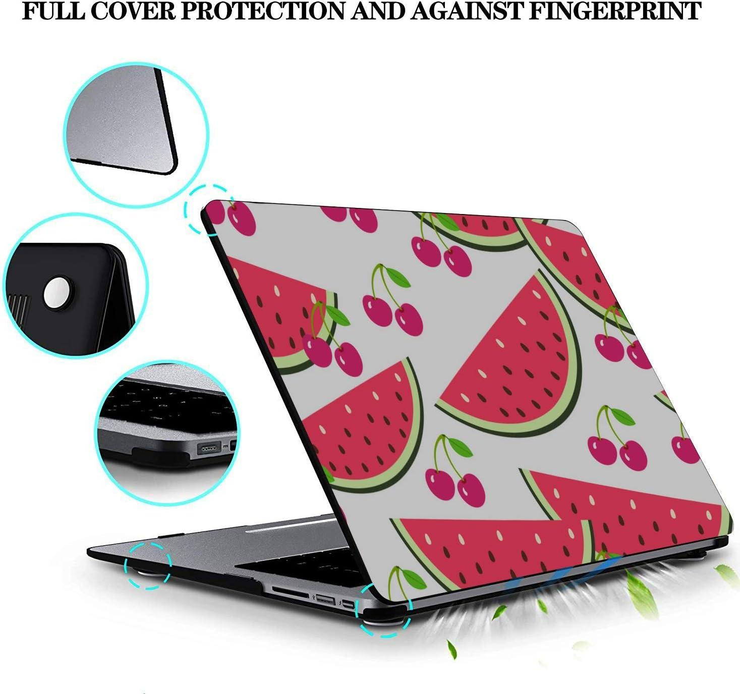 MacBook 11 Inch Case Summer Fashion Cute Fruit Watermelon Plastic Hard Shell Compatible Mac Air 11 Pro 13 15 Case for MacBook Air Protection for MacBook 2016-2019 Version