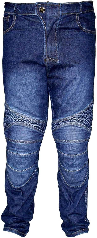 PROFIRST Jean de Moto en Jean Bleu pour Homme avec Protection CE Armure Grande Gamme de Tailles de Taille//Jambes