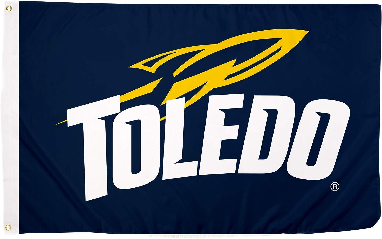 Desert Cactus University of Toledo UT Rockets NCAA 100% Polyester Indoor Outdoor 3 feet x 5 feet Flag