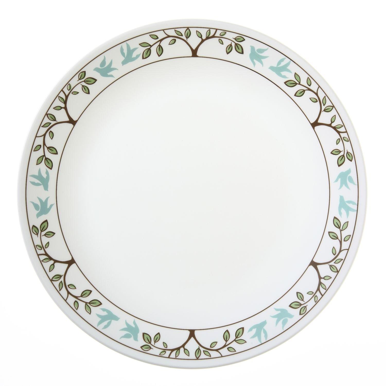 """Corelle Livingware Tree Bird 10-1/4"""" Dinner Plate (Set of 12)"""