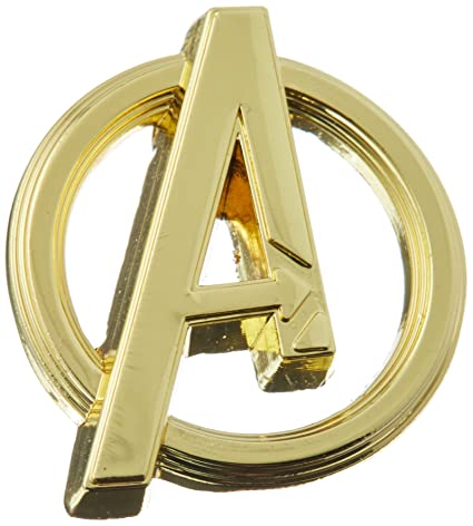 Amazon Com Marvel Avengers Logo Gold Color Pewter Lapel Pin Novelty