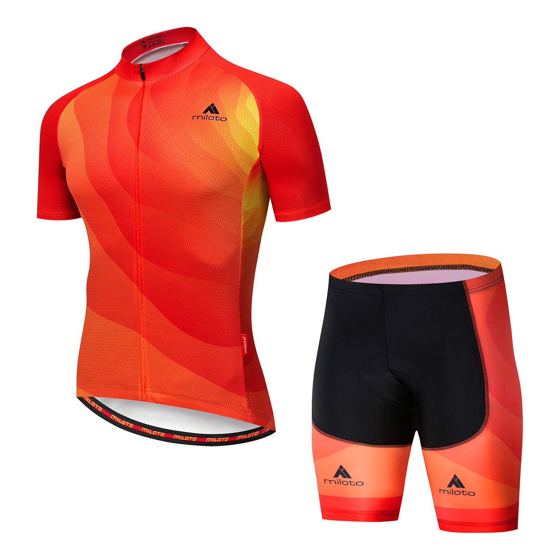 Solar Small MILOTO Men's Cycling Jersey Set Reflective Short Sleeve Breathable