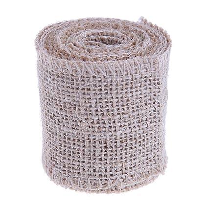New 2M Natural Jute Hessian Burlap Ribbon Rustic Weddings Belt Strap Craft