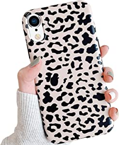 GYZCYQ New iPhone XR Case for Girl Women, Classic Luxury Fashion Leopard Print,Slim Thin and Soft TPU Rubber Silicone Protective Back Cover for iPhone XR 6.1 Inch 2018 Release (Leopard Pattern)