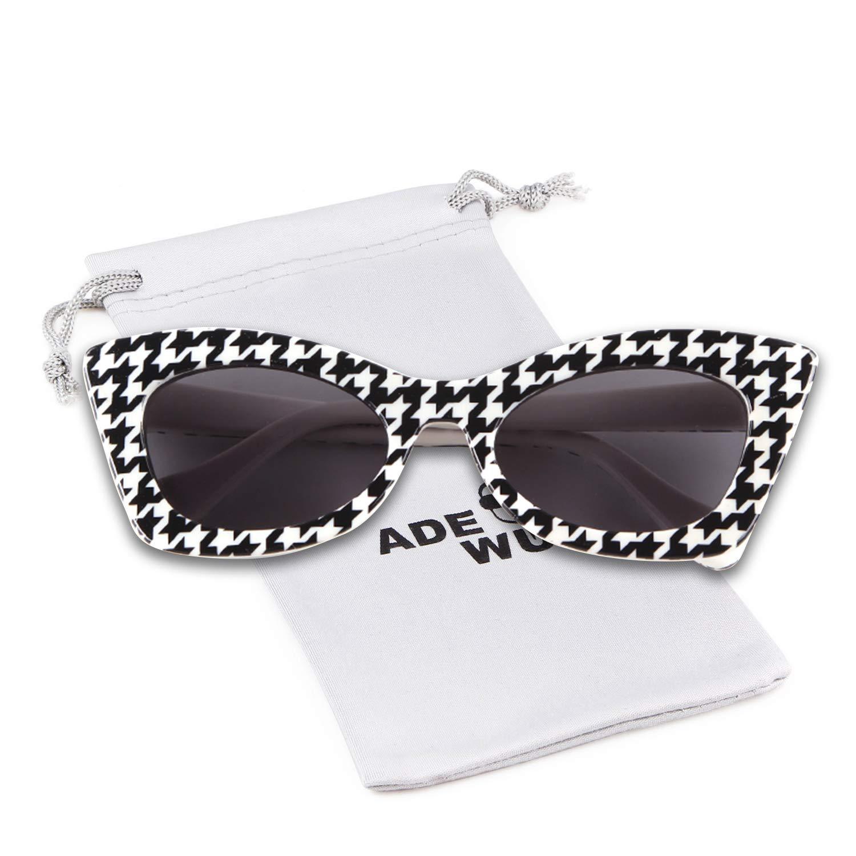 13d33a0f2b Amazon.com  Kids Sunglasses Cute UV400 Protection Glasses Flower XO Shaped  for Children Girl Boy Gifts (Black White Checkered