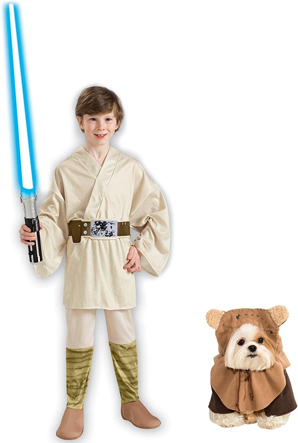 Rubies Disfraz de Luke Skywalker de Star Wars para niños L y Pet S ...
