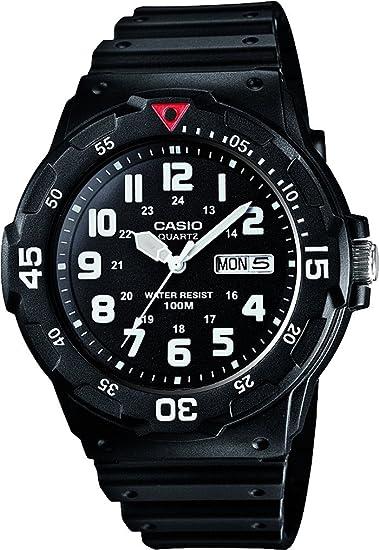 4cb43cb2f62b Casio Reloj Analógico para Hombre de Cuarzo con Correa en Plástico  MRW-200H-1BVES  Amazon.es  Relojes
