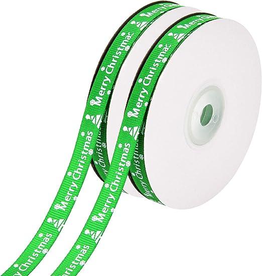 1Meter Dekoband Satinband Schmuckband Weihnachten Weihanchtsbaum Grün