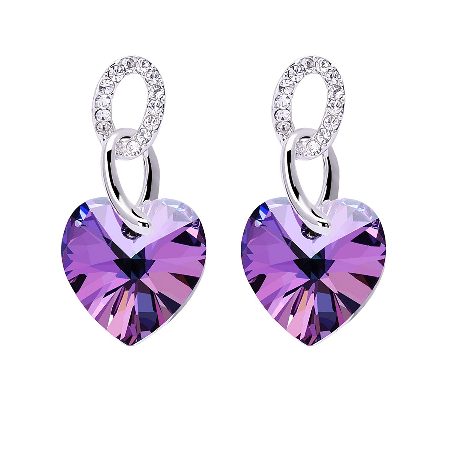 kingice cross the purple king earrings products hanging ice