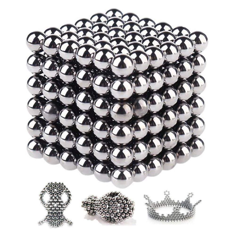 Toys Magnetic Ball, Magnetic Sculpture Toys for Intelligence Development and Stress Relief (5MM Set of 216 Balls) (5mm-Ball) Kuiji