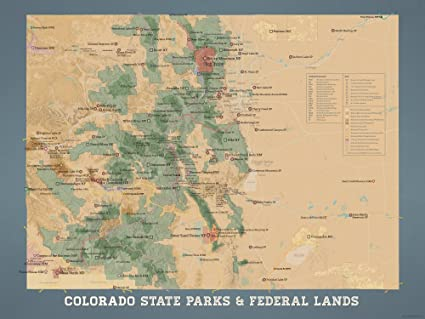 Amazon.com: Colorado State Parks & Federal Lands Map 18x24 ...