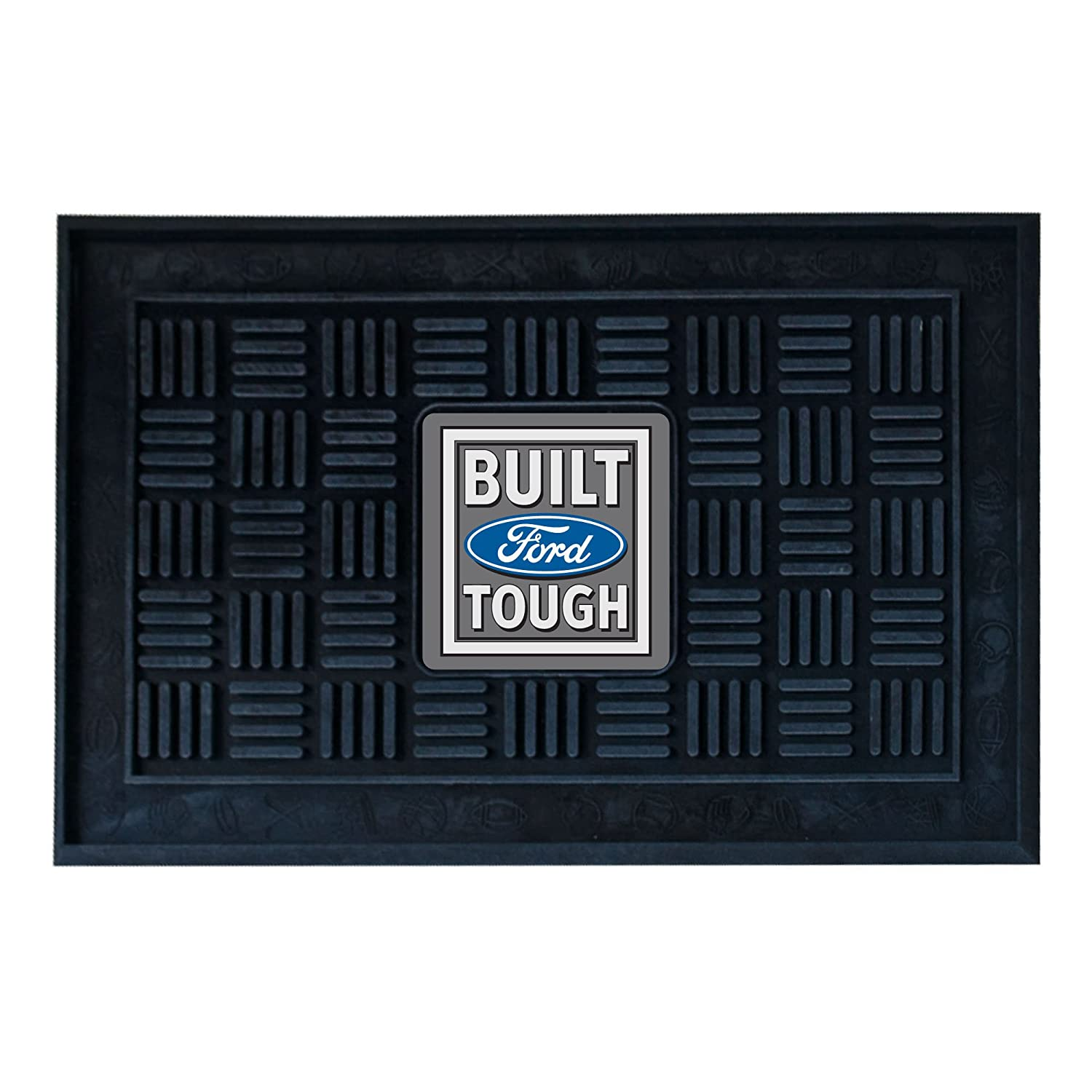 FANMATS 15955 Built Ford Tough Medallion Door Mat